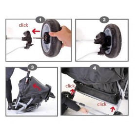 Système roues arrières + Frein Childweels Triplet