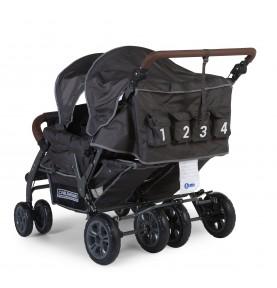 Poussette Quadruple Childwheels avec frein automatique - Dernière Edition