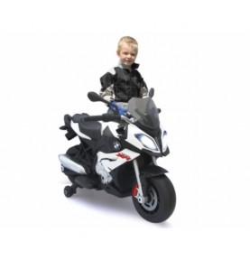 Moto pour enfant BMW S1000XR blanc 6V