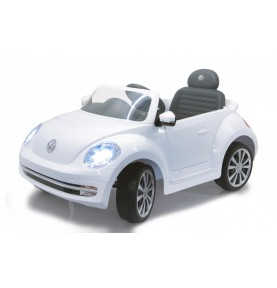 Voiture Electrique Ride-on VW Beetle blanc 27MHz 6V