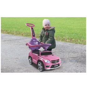 Porteur Voiture Mercedes GL63AMG rose avec canne parentale