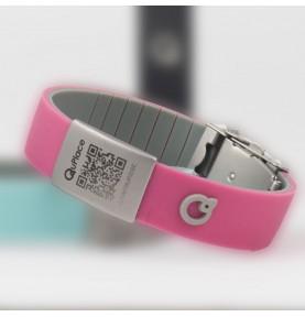 Bracelet Geolocalisable sans ondes - Rose