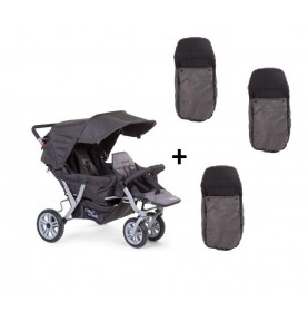 Poussette triple Childwheels Anthracite