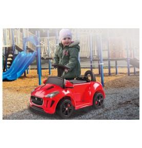 Porteur Voiture électrique Jaguar rouge