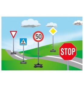 Set 5 Panneaux de Signalisation