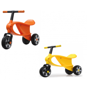 Draisienne 3 roues jaune ou orange